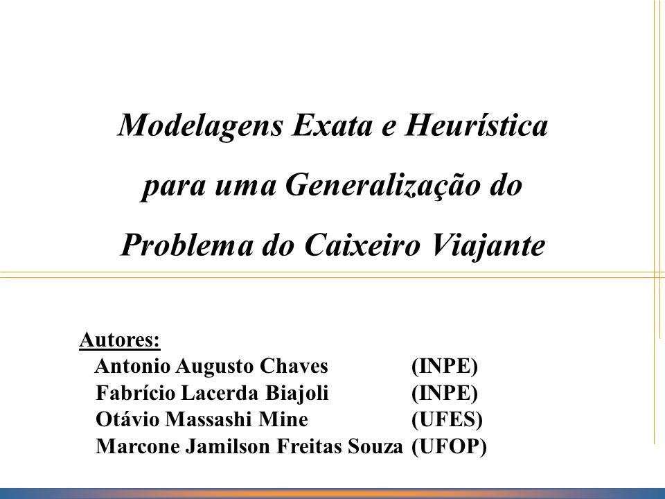 Roteiro INTRODUÇÃO PROBLEMA DO CAIXEIRO VIAJANTE COM COLETA DE PRÊMIOS MODELAGEM –PROGRAMAÇÃO MATEMÁTICA (EXATA) –HEURÍSTICA RESULTADOS COMPUTACIONAIS CONCLUSÃO