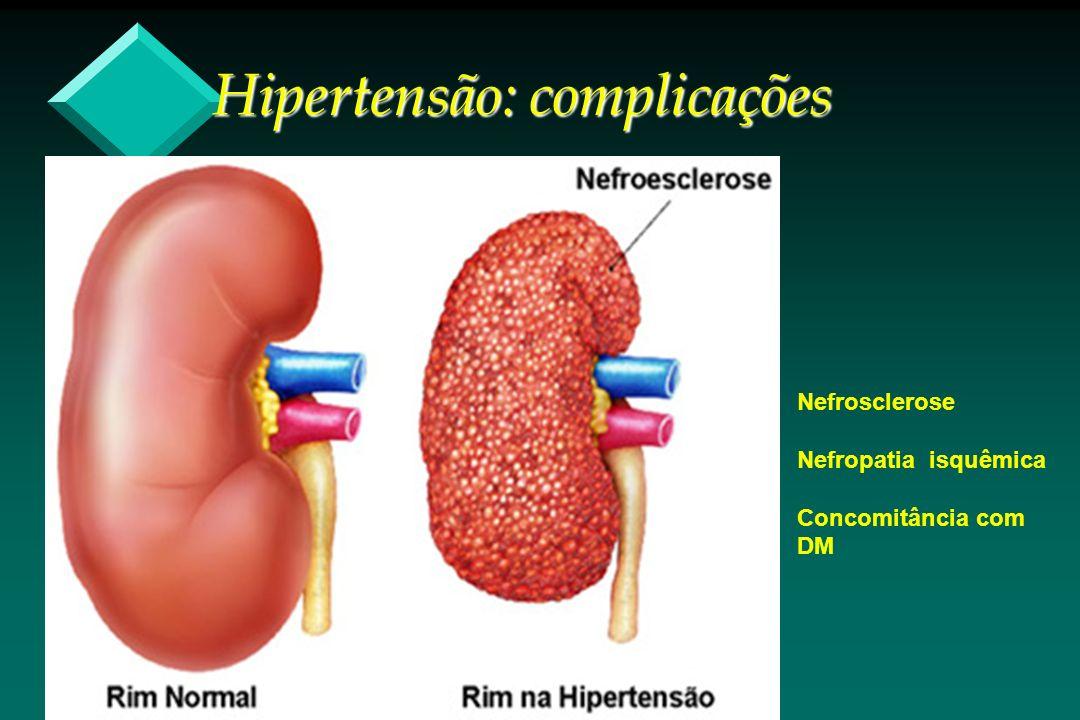 Nefrosclerose Nefropatia isquêmica Concomitância com DM