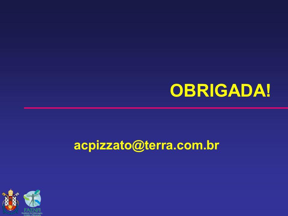 OBRIGADA! acpizzato@terra.com.br