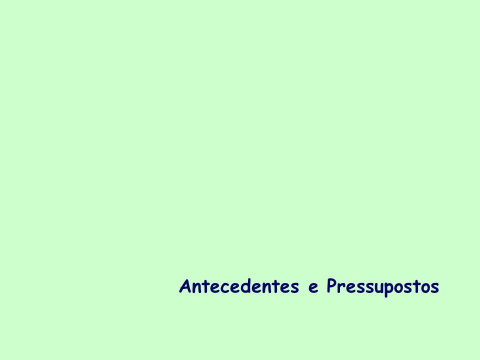 Antecedentes e Pressupostos