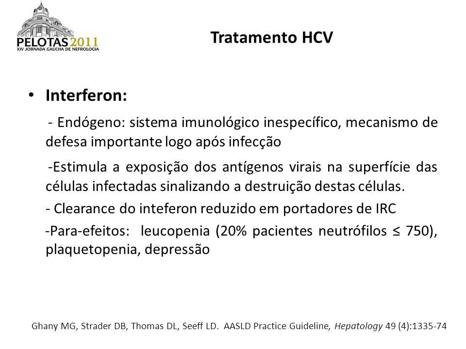 Interferon: - Endógeno: sistema imunológico inespecífico, mecanismo de defesa importante logo após infecção -Estimula a exposição dos antígenos virais