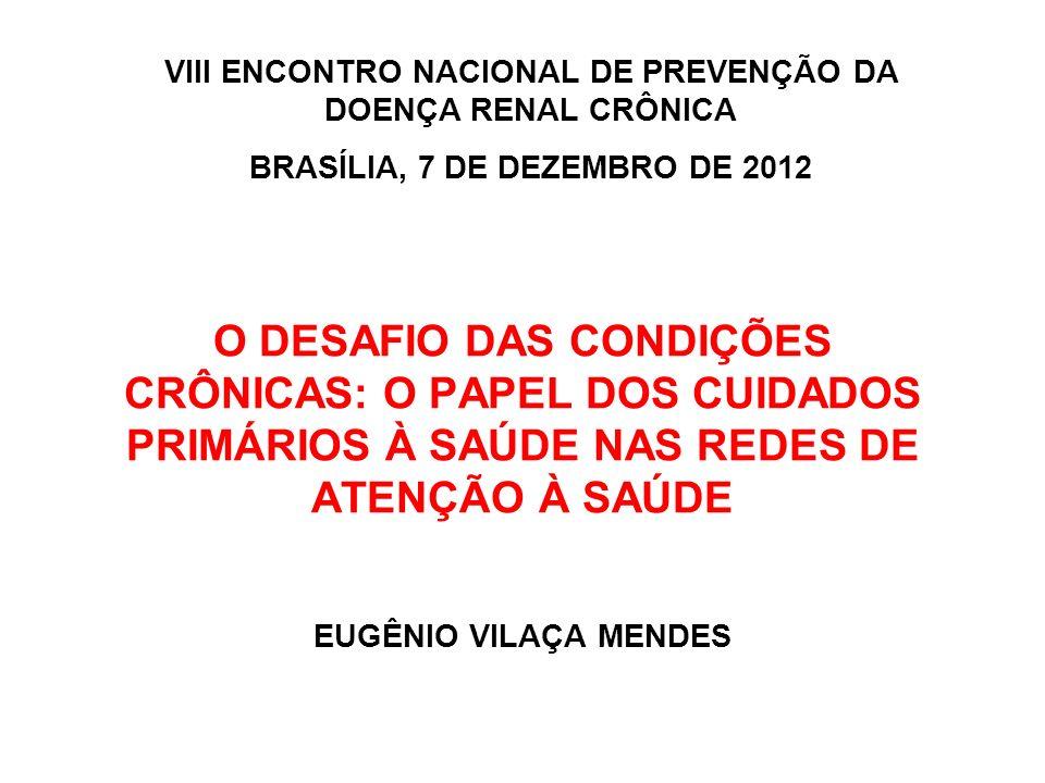 MODELOS DE ATENÇÃO AMBULATORIAL ESPECIALIZADA FONTE: Mendes EV.