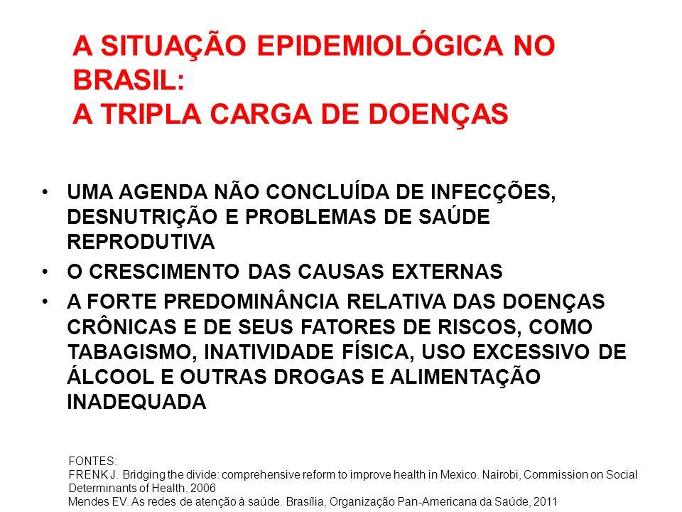 A SITUAÇÃO EPIDEMIOLÓGICA NO BRASIL: A TRIPLA CARGA DE DOENÇAS UMA AGENDA NÃO CONCLUÍDA DE INFECÇÕES, DESNUTRIÇÃO E PROBLEMAS DE SAÚDE REPRODUTIVA O C