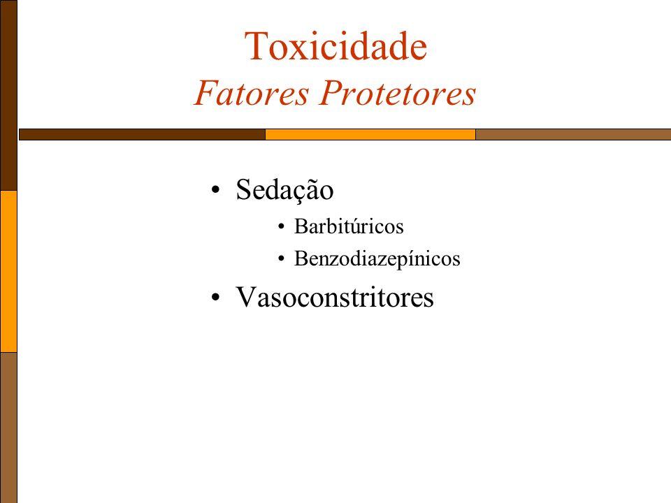 Toxicidade Fatores Protetores Sedação Barbitúricos Benzodiazepínicos Vasoconstritores