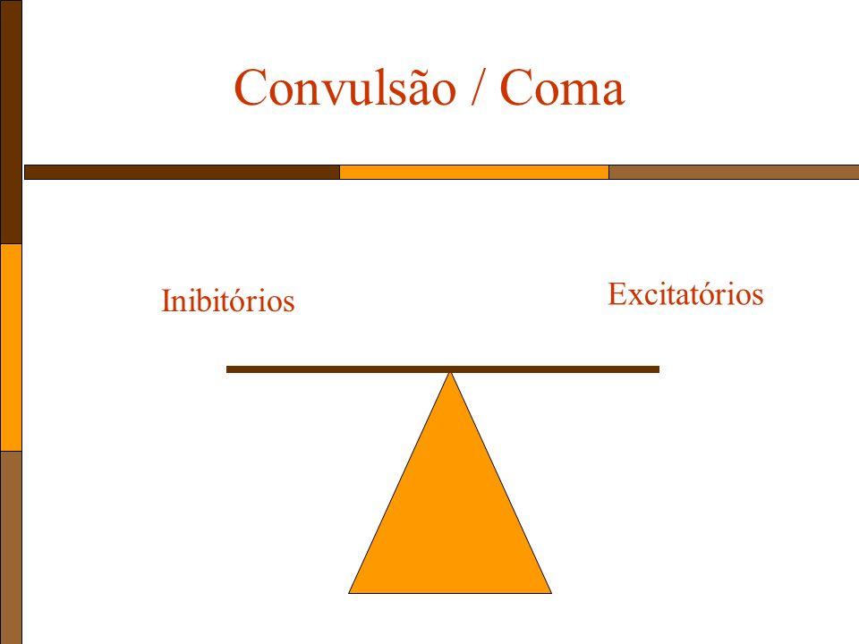 Convulsão / Coma Inibitórios Excitatórios