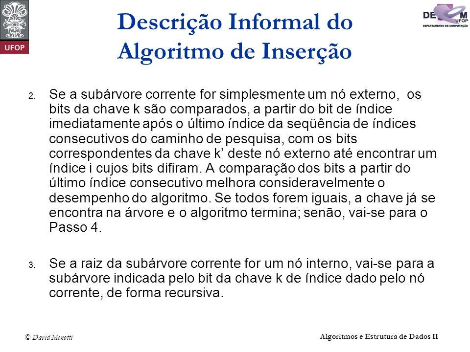 © David Menotti Algoritmos e Estrutura de Dados II 2.