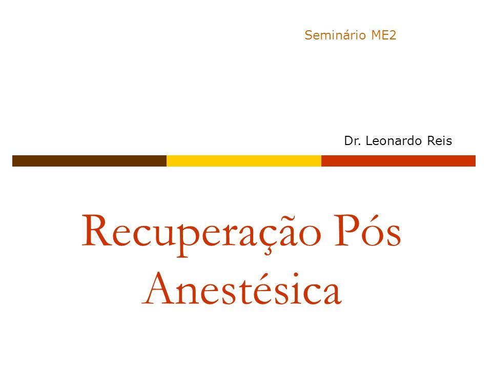 Recuperação Pós Anestésica Seminário ME2 Dr. Leonardo Reis