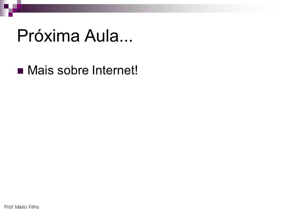 Prof. Mario Filho Próxima Aula... Mais sobre Internet!