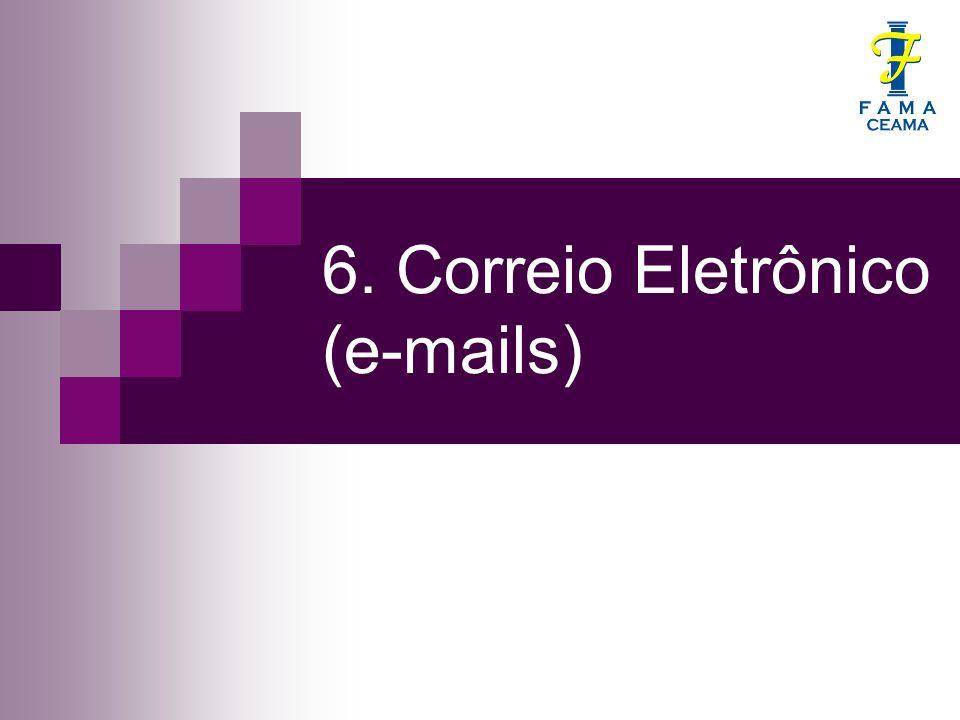 Prof.Mario Filho 6.1. História O correio eletrônico é anterior ao surgimento da Internet.