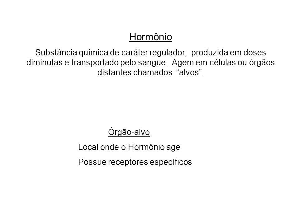 adalberto Hormônio Substância química de caráter regulador, produzida em doses diminutas e transportado pelo sangue. Agem em células ou órgãos distant