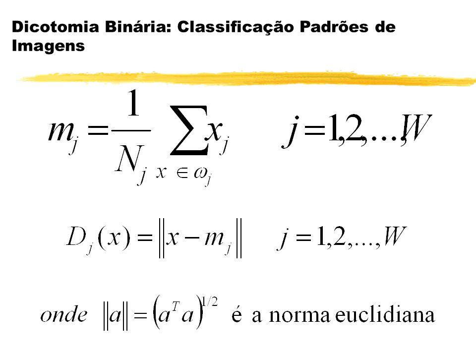 Se aproximarmos as distribuições dos padrões por gaussianas, teremos: Classificador Bayesiano para distribuição gaussiana