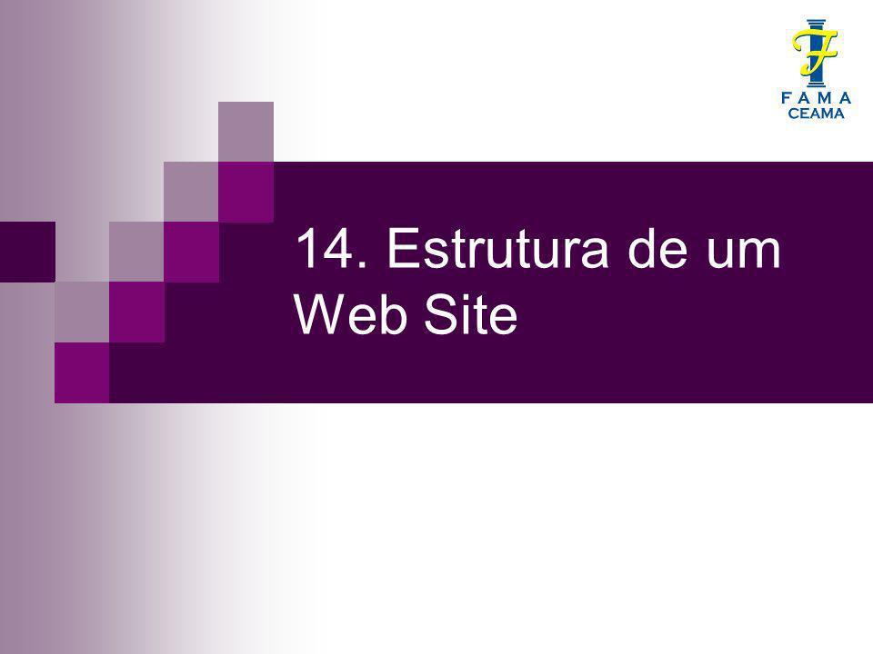 14. Estrutura de um Web Site