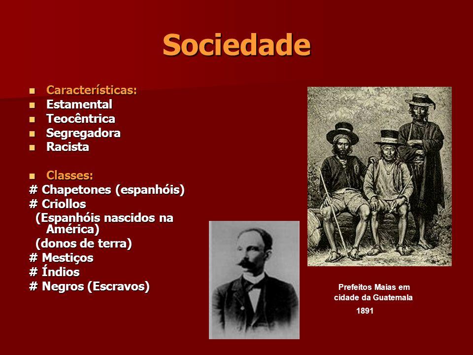 Sociedade Características: Características: Estamental Estamental Teocêntrica Teocêntrica Segregadora Segregadora Racista Racista Classes: Classes: #