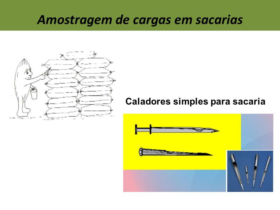 Amostragem de cargas em sacarias Caladores simples para sacaria