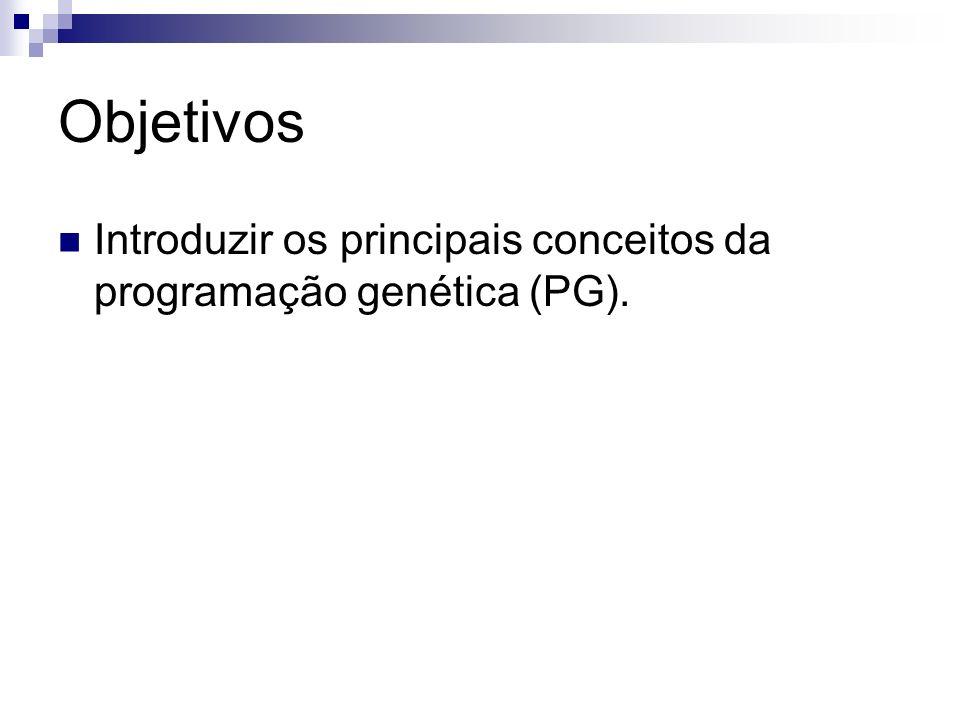 Entendendo a PG Algoritmo clássico: 1.Inicializar a população inicial.