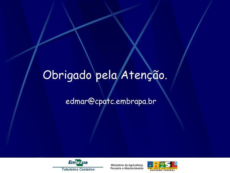 Obrigado pela Atenção. edmar@cpatc.embrapa.br