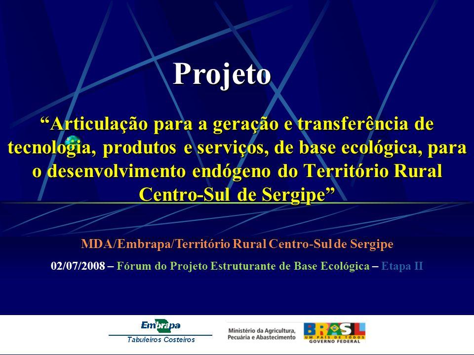 Territórios Rurais de Sergipe Alto Sertão.Sertão Ocidental.