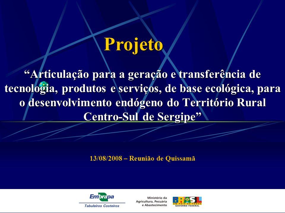 Articulação para a geração e transferência de tecnologia, produtos e serviços, de base ecológica, para o desenvolvimento endógeno do Território Rural