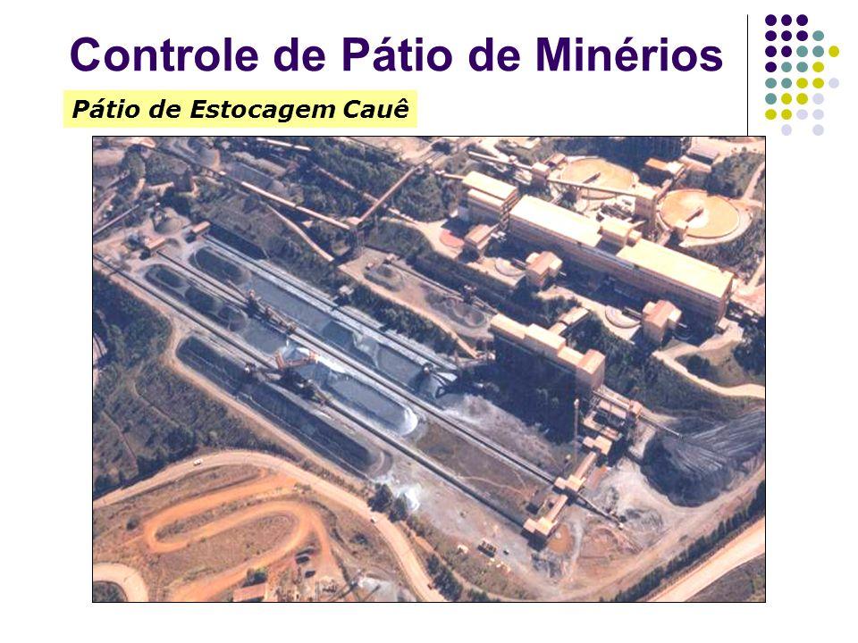 Pátio de Estocagem Cauê Controle de Pátio de Minérios