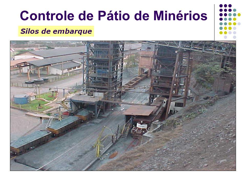 Silos de embarque Controle de Pátio de Minérios