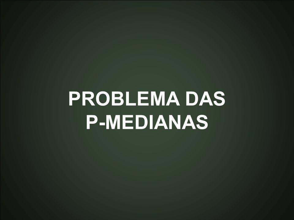 Introdução à Otmização Marcone Jamilson Freitas Souza 37 PROBLEMA DAS P-MEDIANAS