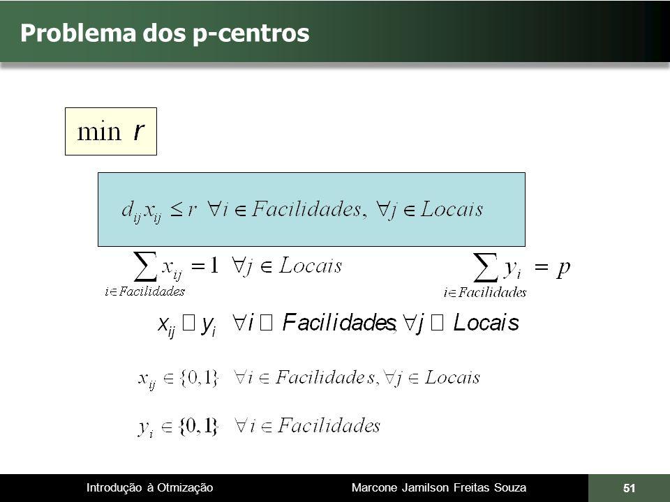Introdução à Otmização Marcone Jamilson Freitas Souza Problema dos p-centros 51