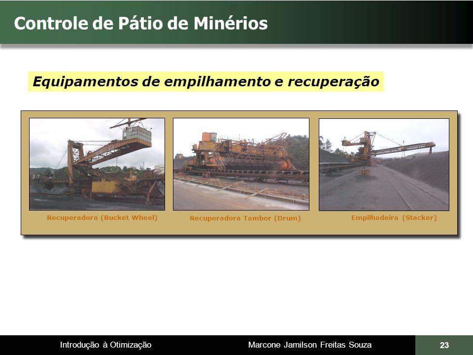 Introdução à Otimização Marcone Jamilson Freitas Souza 23 Controle de Pátio de Minérios Equipamentos de empilhamento e recuperação Recuperadora (Bucke