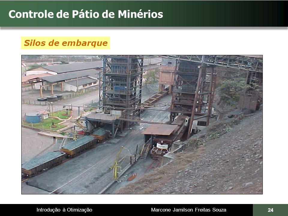 Introdução à Otimização Marcone Jamilson Freitas Souza 24 Controle de Pátio de Minérios Silos de embarque