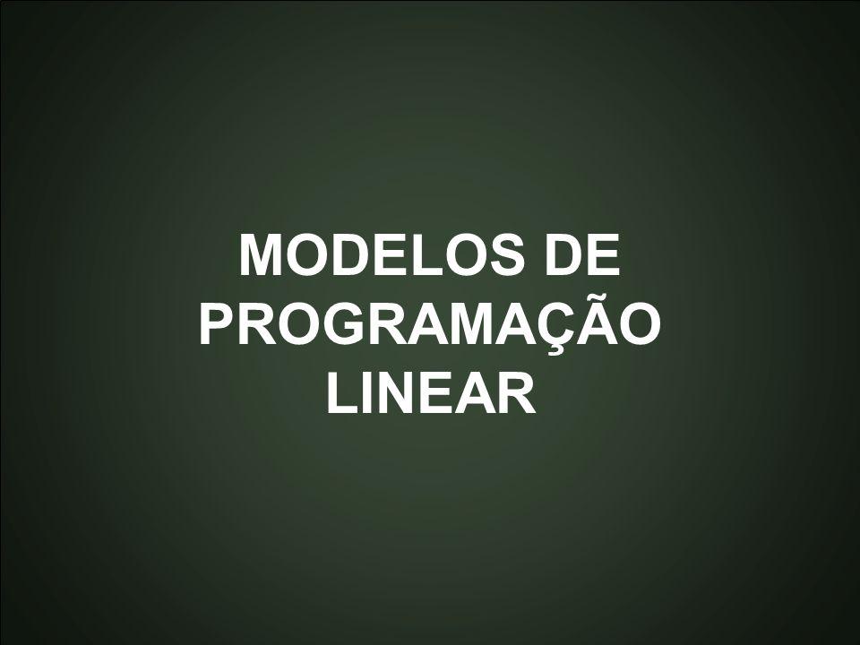 Introdução à Otimização Marcone Jamilson Freitas Souza 41 MODELOS DE PROGRAMAÇÃO LINEAR
