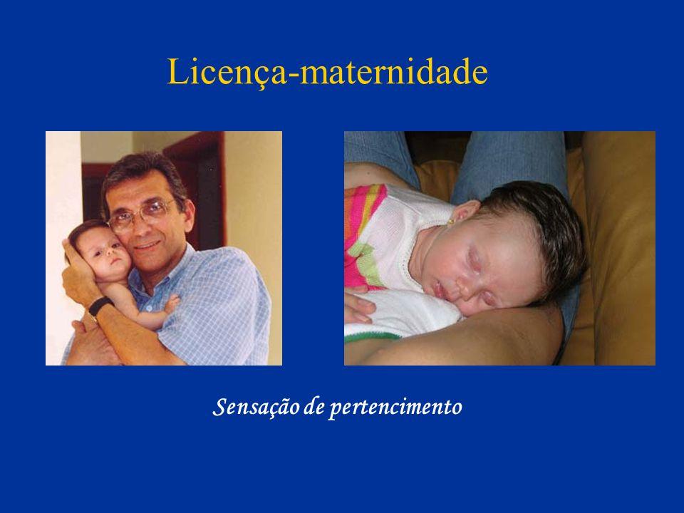 Sensação de pertencimento Licença-maternidade