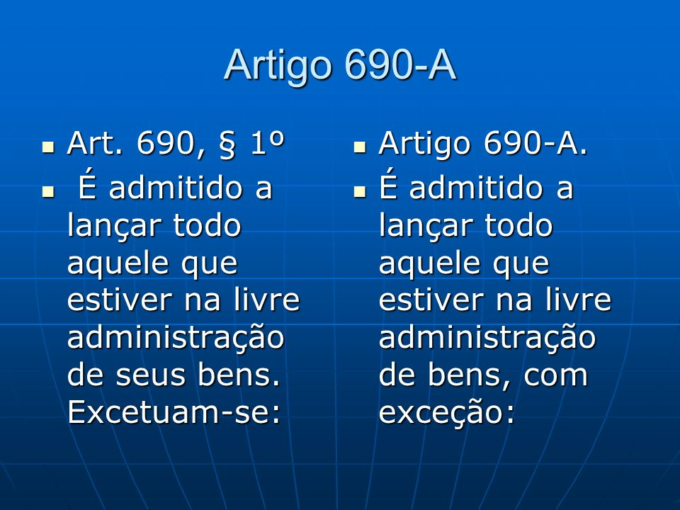 Artigo 690-A Art.690, § 1º Art.
