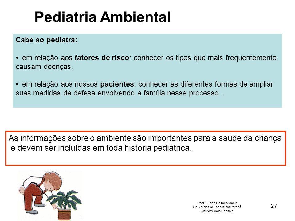 27 Cabe ao pediatra: em relação aos fatores de risco: conhecer os tipos que mais frequentemente causam doenças. em relação aos nossos pacientes: conhe