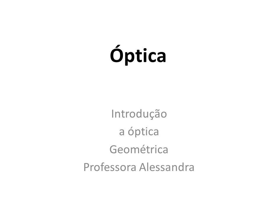 Óptica Introdução a óptica Geométrica Professora Alessandra