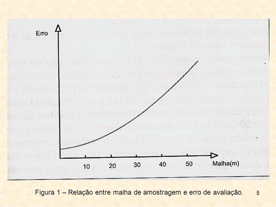 5 Figura 1 – Relação entre malha de amostragem e erro de avaliação.
