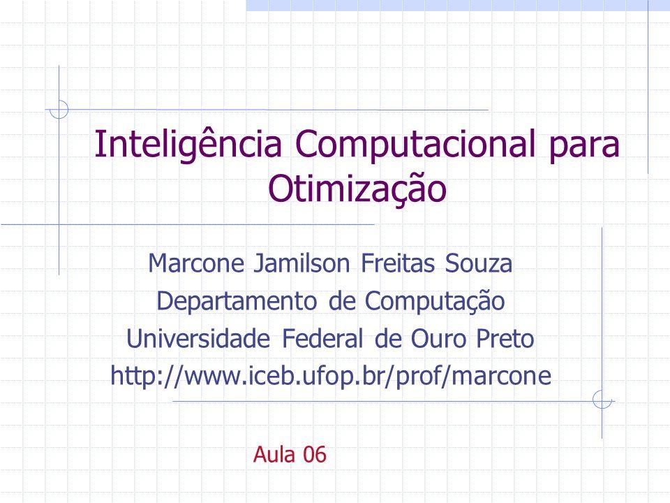 Inteligência Computacional para Otimização Marcone Jamilson Freitas Souza Departamento de Computação Universidade Federal de Ouro Preto http://www.iceb.ufop.br/prof/marcone Aula 06
