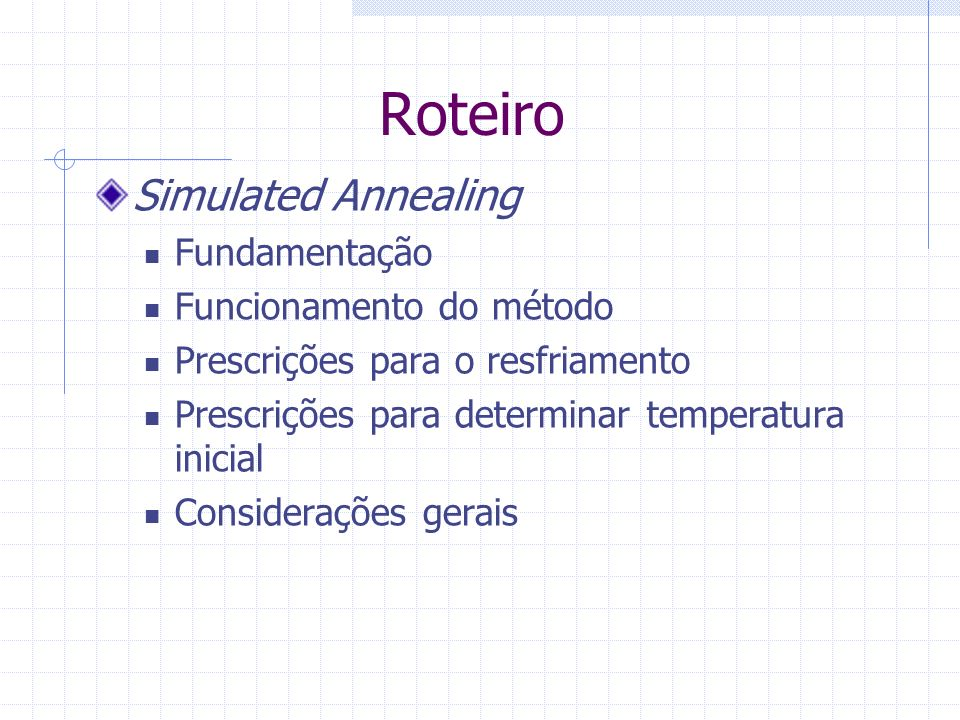 Fundamentação do método Proposto por Kirkpatrick et al.