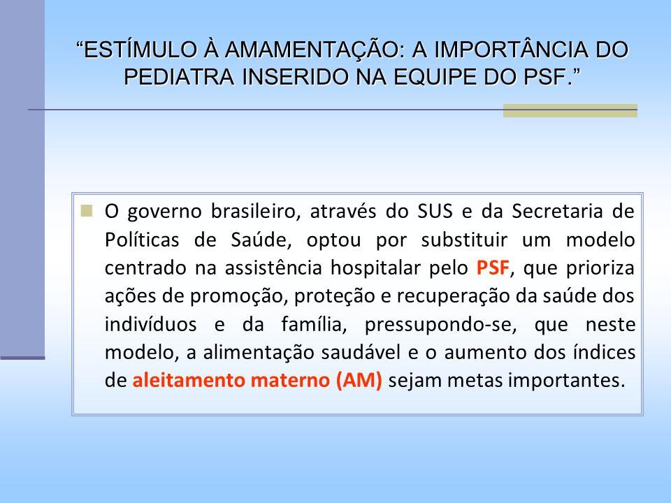 O governo brasileiro, através do SUS e da Secretaria de Políticas de Saúde, optou por substituir um modelo centrado na assistência hospitalar pelo PSF
