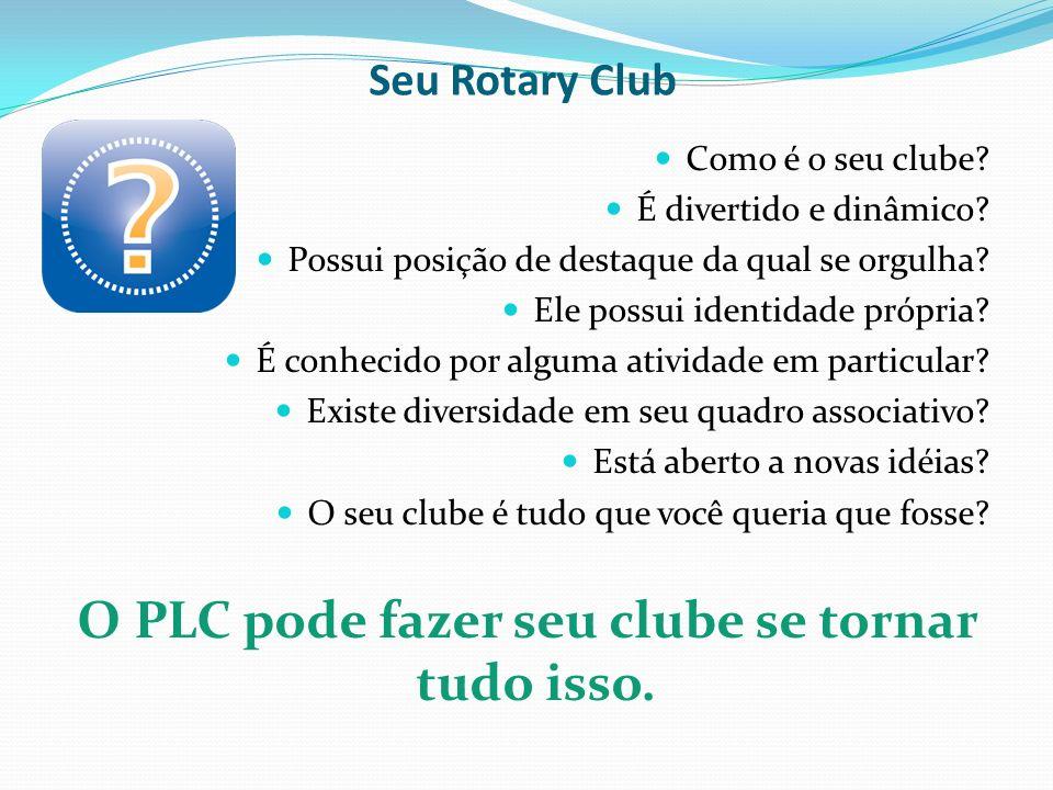 Seu Rotary Club Como é o seu clube? É divertido e dinâmico? Possui posição de destaque da qual se orgulha? Ele possui identidade própria? É conhecido