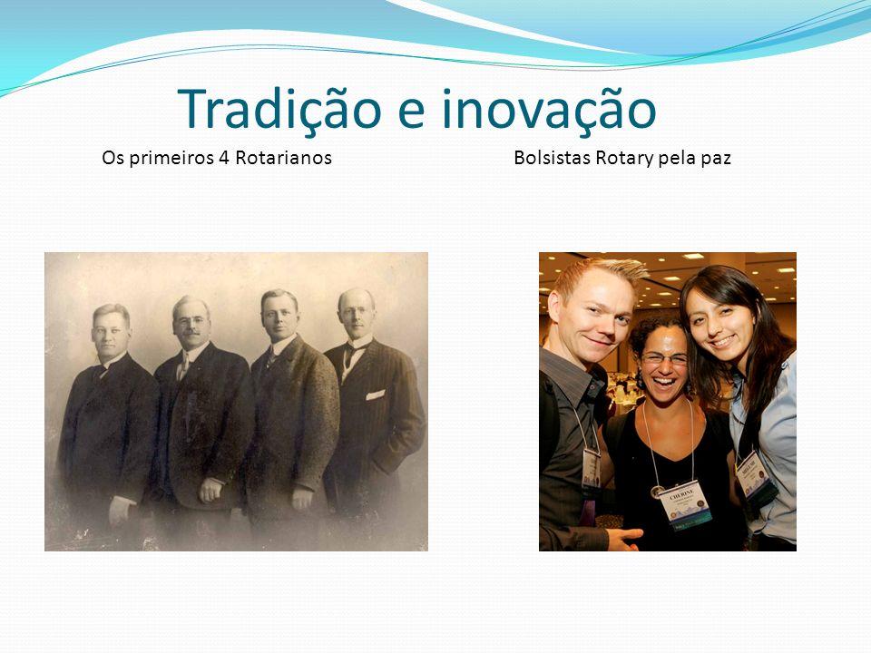 Tradição e inovação Os primeiros 4 Rotarianos Bolsistas Rotary pela paz