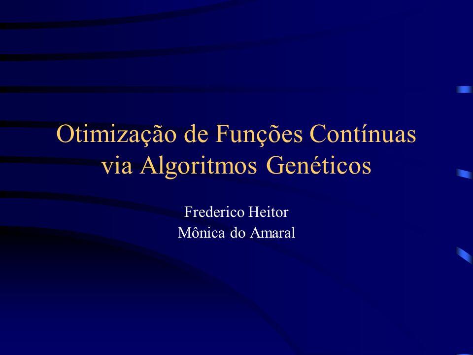 Otimização de Funções Contínuas via Algoritmos Genéticos Frederico Heitor Mônica do Amaral
