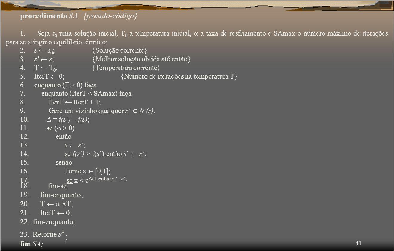 11 procedimento SA {pseudo-código} 1.