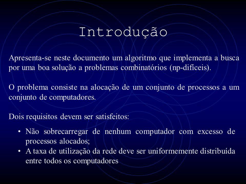 Introdução Apresenta-se neste documento um algoritmo que implementa a busca por uma boa solução a problemas combinatórios (np-difíceis).