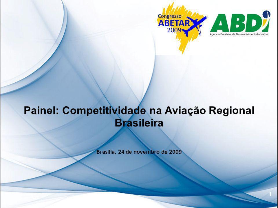 1 Painel: Competitividade na Aviação Regional Brasileira Brasilia, 24 de novembro de 2009