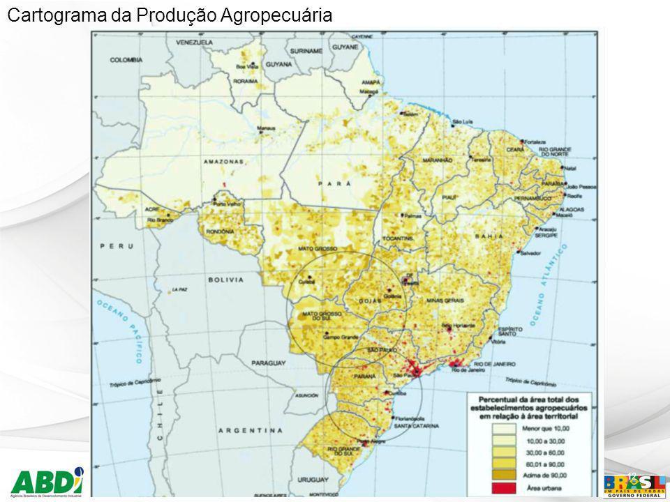 12 Cartograma da Produção Agropecuária