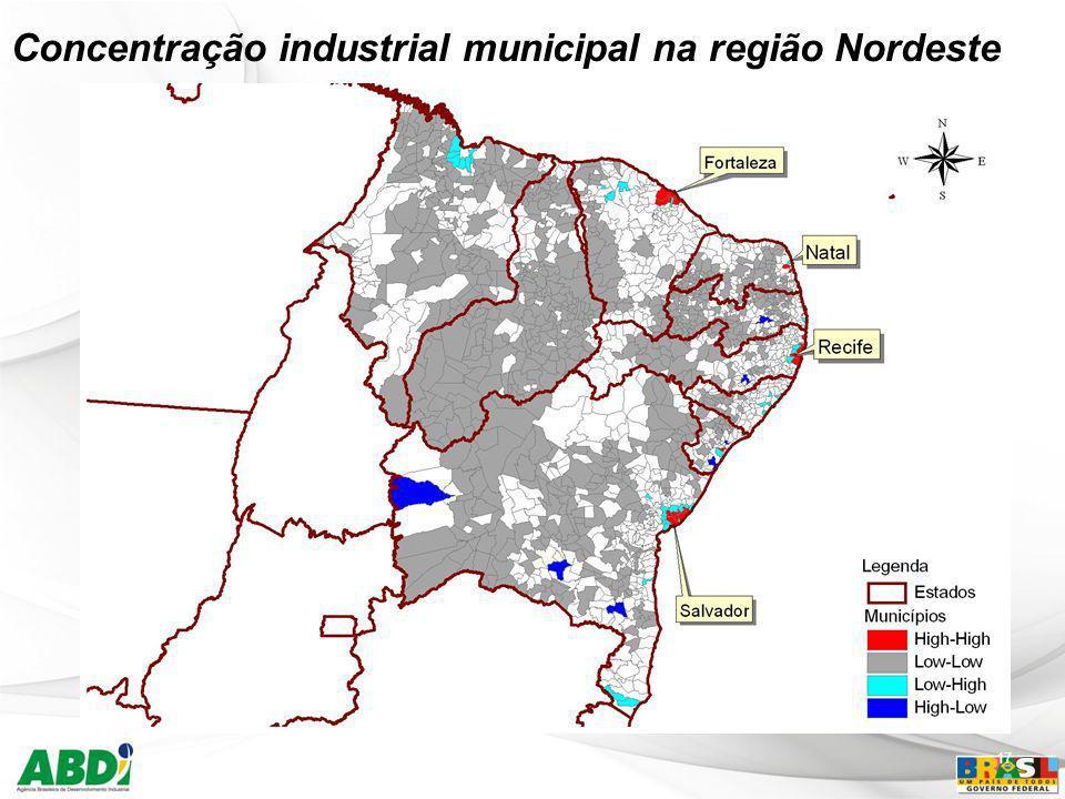 17 Concentração industrial municipal na região Nordeste
