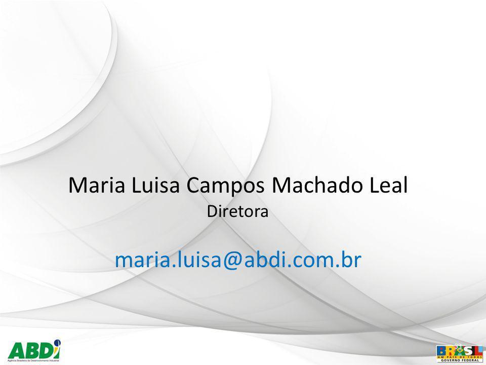 33 Maria Luisa Campos Machado Leal Diretora maria.luisa@abdi.com.br