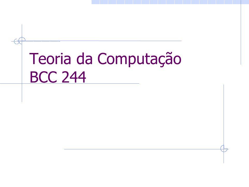 Teoria da Computação BCC 244