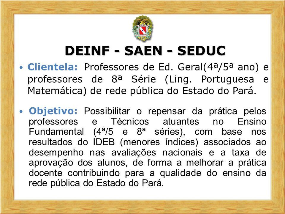 Foco: A Qualidade do ensino Público no Estado do Pará.