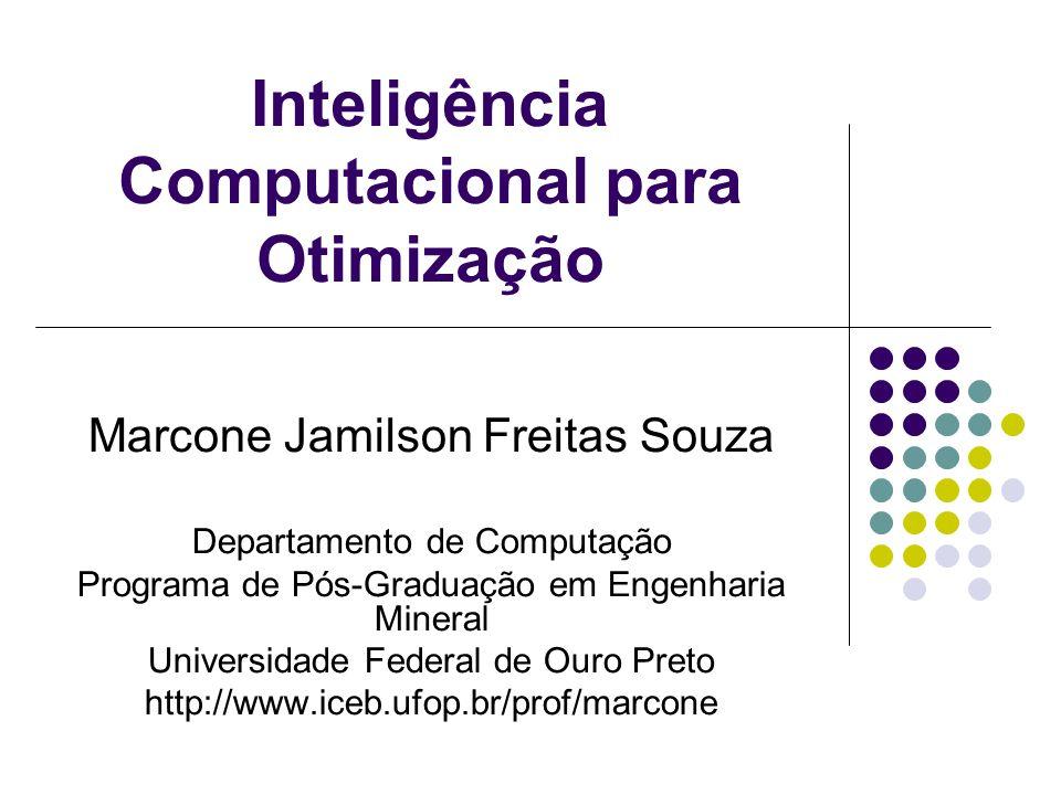 Inteligência Computacional para Otimização Marcone Jamilson Freitas Souza Departamento de Computação Programa de Pós-Graduação em Engenharia Mineral U