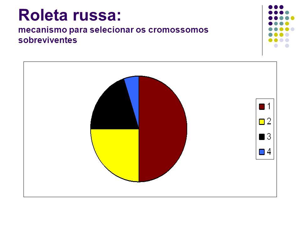 Roleta russa: mecanismo para selecionar os cromossomos sobreviventes